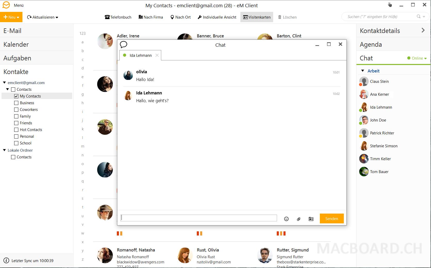 eM Client Mac Chat