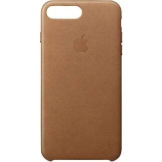 Apple Leather Case Backcover Apple iPhone 8 Plus, iPhone 7 Plus Sattelbraun
