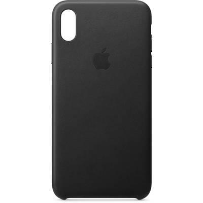 Apple Leder Case Backcover Apple iPhone XS Max Schwarz