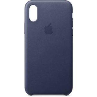 Apple Leder Case Backcover Apple iPhone XS Mitternachtsblau