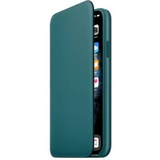 Apple iPhone 11 Pro Max Leather Folio Leder Case Apple iPhone 11 Pro Max Peacock
