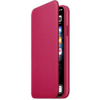 Apple iPhone 11 Pro Max Leather Folio Leder Case Apple iPhone 11 Pro Max Raspberry