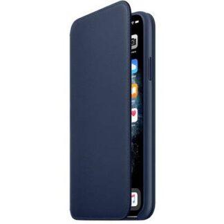 Apple iPhone 11 Pro Max Leather Folio Leder Case Apple iPhone 11 Pro Max Tiefseeblau