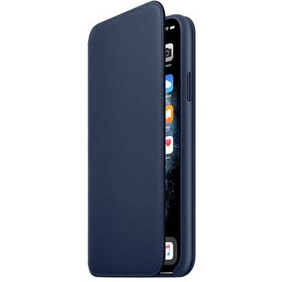 Apple iPhone 11 Pro Max Leather Folio Leder Case Apple iPhone 11 Pro Max Tiefseeblau