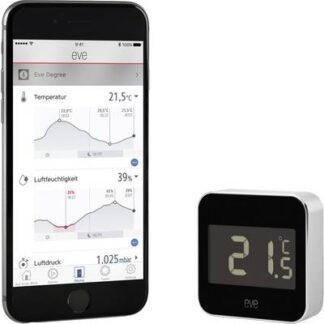 Eve home Degree Bluetooth Temperatursensor und Luftfeuchtesensor Apple HomeKit