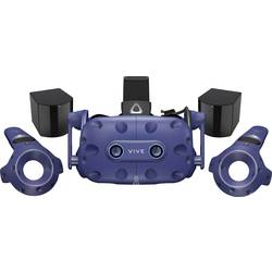 HTC VIVE PRO EYE Blau Virtual Reality Brille inkl. Controller, mit integriertem Soundsystem