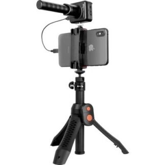 IK Multimedia iRig Mic Video Bundle Stand Handymikrofon Übertragungsart:Kabelgebunden inkl. Stativ, inkl. Windschutz