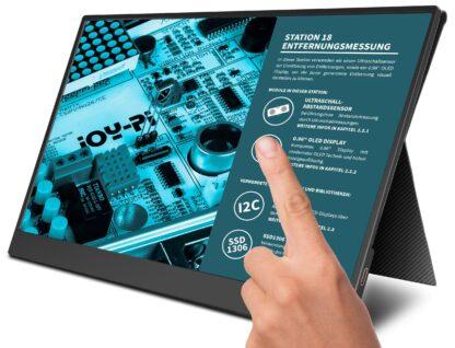 "JOY-iT Tragbarer 13,3"" Touchscreen-Monitor / Zweitmonitor JOY-VIEW, Smart Case Hü lle"