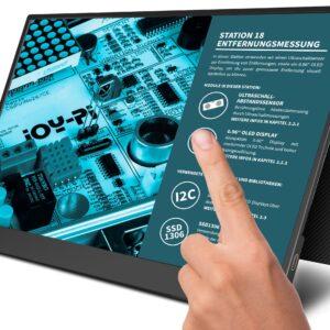 """JOY-iT Tragbarer 15,6"""" Touchscreen-Monitor / Zweitmonitor, inkl. Smart Case Hü lle"""