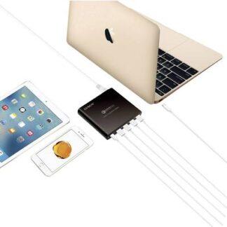 LVSUN 80W USB-C, QC3.0 LS-Q5U-PD USB-Ladestation Steckdose Ausgangsstrom (max.) 17000 mA 5 x USB 3.0 Buchse A, USB-C™