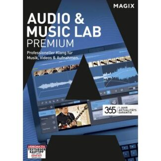 Magix Audio & Music Lab Premium Vollversion, 1 Lizenz Windows Musik-Software
