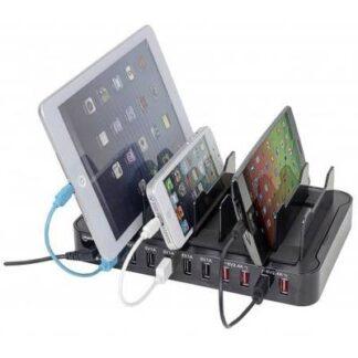 Manhattan 10-Port Charger 180009 USB-Ladestation Steckdose Ausgangsstrom (max.) 17000 mA 10 x USB
