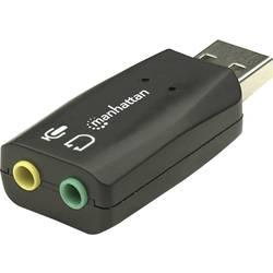 Manhattan Hi-Speed USB 3-D Audio Adapter 2.1 Soundkarte, Extern externe Kopfhöreranschlüsse