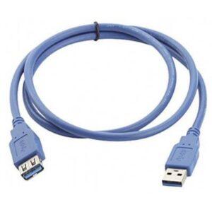 Manhattan USB 3.0 Verlängerungskabel [1x USB 3.0 Stecker A - 1x USB 3.0 Buchse A] 3.00 m Blau vergoldete Steckkontakte,