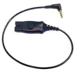 Plantronics Anschlusskabel MO300 QD für iPhone Headset-Adapter 3.00 m Schwarz