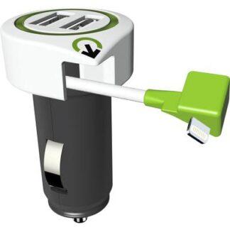 Q2 Power 3.100120 3.100120 USB-Ladegerät KFZ, LKW Ausgangsstrom (max.) 3100 mA 3 x USB, Apple Lightning-Stecker