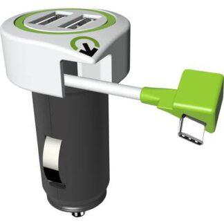 Q2 Power 3.100130 3.100130 USB-Ladegerät KFZ, LKW Ausgangsstrom (max.) 3100 mA 3 x USB, USB-C™ Stecker