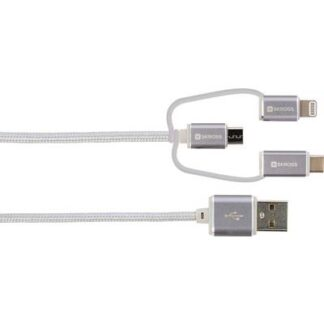Skross iPod/iPhone/iPad USB-Kabel [1x USB - 1x USB-C™ Stecker, Micro-USB-Stecker, Apple Lightning-Stecker] 30.00 cm