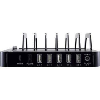 VOLTCRAFT SPS-DUO-PD SPS-DUO-PD Steckernetzteil, einstellbar Steckdose Ausgangsstrom (max.) 3 A 7 x USB, USB-C™ Buchse