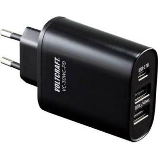 VOLTCRAFT VC-30WC-PD VC-30WC-PD USB-Ladegerät Steckdose 3 x USB, USB-C™ Buchse
