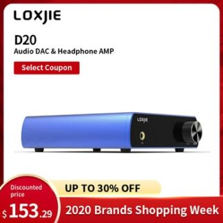 LOXJIE D20 Audio DAC Desktop Digital to Analog Converter & Headphone Amp Chip AK4497 Support 32bit/768kHz DSD512 OLED Display