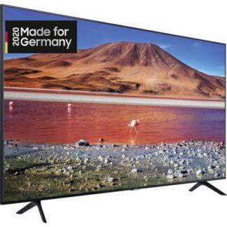 Samsung GU75TU7079 LED-TV 189 cm 75 Zoll EEK A+ (A+++ - D) DVB-T2, DVB-C, DVB-S, UHD, Smart TV, WLAN, CI+ Schwarz