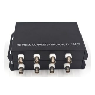 1080P HD TVI CVI AHD 4 Channels Video to Fiber Optical Media Converters with RS485 Data- For 1080p 960p 720p AHD CVI TVI HD CCTV