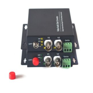 2 channels Video to Fiber Optic Media Converters Transmitter and Receiver for Analog Cameras Surveillance CCTV system
