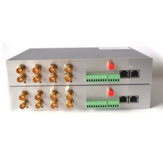 4 Channels HD SDI over Fiber Optic Media Converters Video/Ethernet/RS422 to Fiber Transmitter and Receiver for HD SDI Cameras