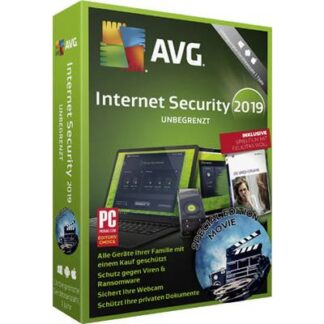 AVG Internet Security 2019 Special Edition Movie Vollversion, unbegrenzte Geräteanzahl Windows, Mac, Android