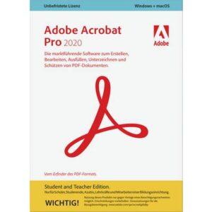 Adobe Acrobat Pro 2020 Student and Teacher Edition Vollversion, 1 Lizenz Windows, Mac PDF-Software