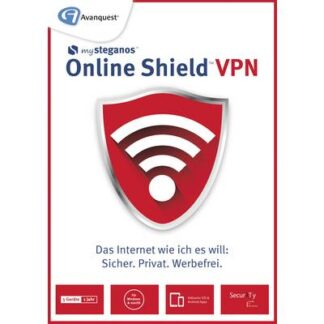 Avanquest Steganos Online Shield VPN Vollversion, 5 Lizenzen Windows, Mac, iOS, Android Systemoptimierung