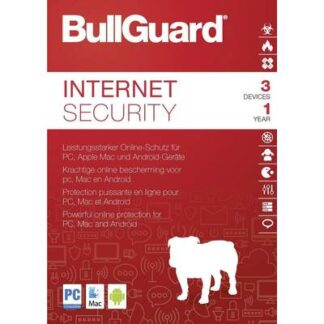Bullguard Internet Security 2019 Vollversion, 3 Lizenzen Windows, Mac, Android Sicherheits-Software