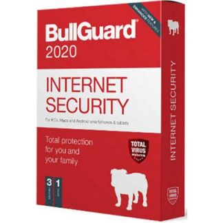 Bullguard Internet Security 2020 3U W/A/M Jahreslizenz, 3 Lizenzen Windows, Mac, Android Sicherheits-Software