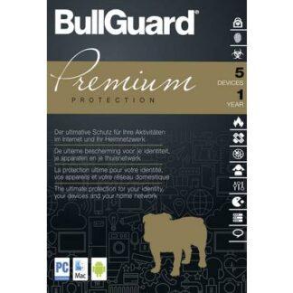 Bullguard Premium Protection Vollversion, 5 Lizenzen Windows, Mac, Android Sicherheits-Software