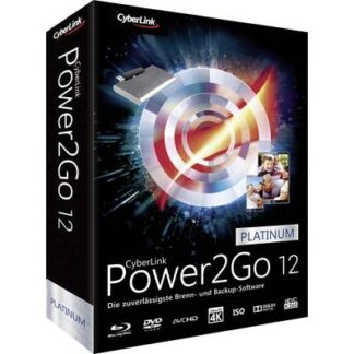 Cyberlink Power2Go 12 Platinum Vollversion, 1 Lizenz Windows Backup-Software