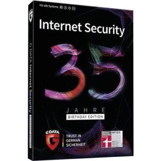 G-Data Internet Security 35 Jahre Birthday Edition Multi Device Jahreslizenz, 5 Lizenzen Windows, Mac, Android, iOS