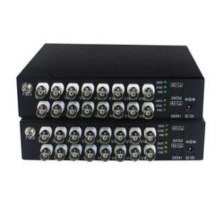 HD video AHD CVI Fiber optical converter, 16-CH 720P 960P video fiber optic transmitter, single-mode single fiber 20KM