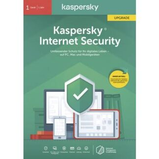 Kaspersky Lab Internet Security 2020 (Code in a Box) Upgrade, 1 Lizenz Windows, Mac, Android Antivirus,
