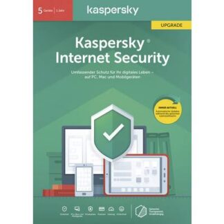 Kaspersky Lab Internet Security 2020 (Code in a Box) Upgrade, 5 Lizenzen Windows, Mac, Android Antivirus,