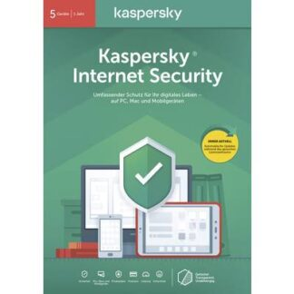 Kaspersky Lab Internet Security 2020 (Code in a Box) Vollversion, 5 Lizenzen Windows, Mac, Android Antivirus,