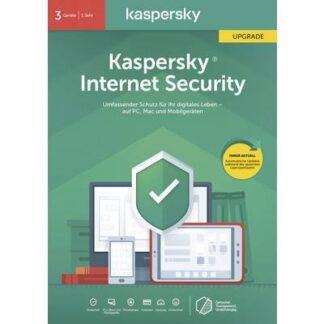 Kaspersky Lab Internet Security 2020 Upgrade (Code in a Box) Upgrade, 3 Lizenzen Windows, Mac, Android Antivirus,