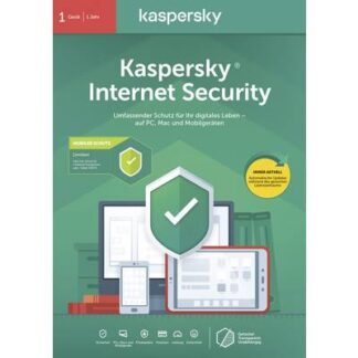 Kaspersky Lab Internet Security + Android Security 2020 (Code in a Box) Vollversion, 1 Lizenz Windows, Android, Mac