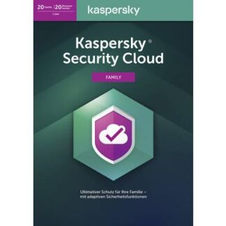 Kaspersky Lab Security Cloud Family Edition 2020 (Code in a Box) Vollversion, 20 Lizenzen Windows, Mac, Android