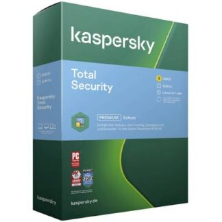 Kaspersky Lab Total Security 1 Gerät (Code in a Box) Jahreslizenz, 1 Lizenz Windows, Mac, Android Antivirus