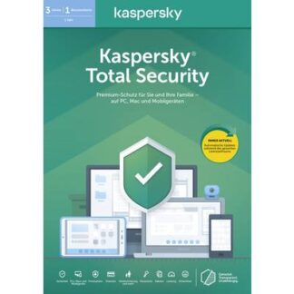 Kaspersky Lab Total Security 2020 (Code in a Box) Jahreslizenz, 3 Lizenzen Windows, Mac, Android Antivirus