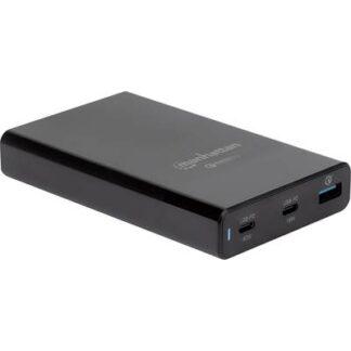 Manhattan 102223 USB-Ladestation Steckdose Ausgangsstrom (max.) 3 A 3 x USB 3.0 Buchse A, USB-C™ Buchse (Power Delivery)