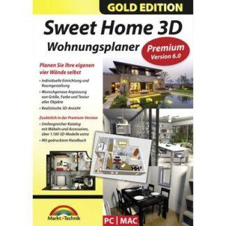 Markt & Technik Sweet Home 3D Vollversion, 1 Lizenz Windows, Mac Planungs-Software