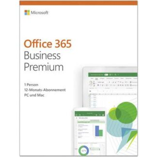 Microsoft Office 365 Business Premium Vollversion, 1 Lizenz Windows, Mac, iOS, Android Office-Paket