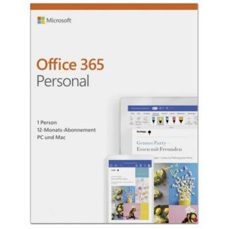 Microsoft Office 365 Personal Vollversion, 1 Lizenz Windows, Mac, Android, iOS Office-Paket
